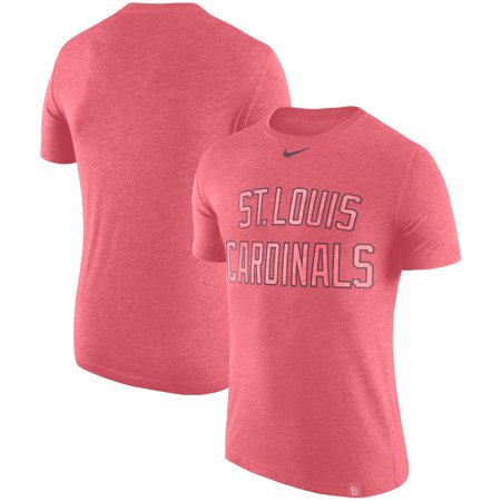 St. Louis Cardinals Nike Tri-Blend DNA Performance T-Shirt - Heathered Red