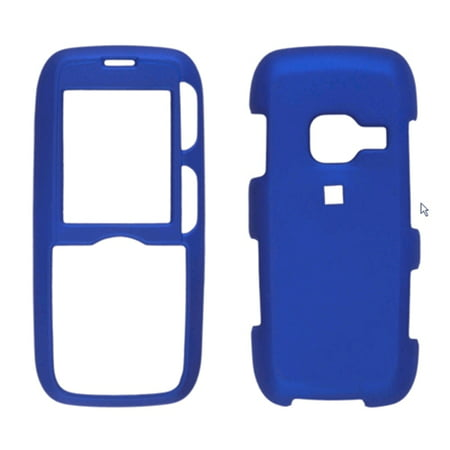 Two piece Soft Touch Snap-On Case for LG AX260, LX260 Rumor, Scoop UX260 - Blue ()
