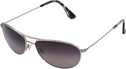 NEW Maui Jim BABY BEACH Silver /& Neutral Grey Polarized GS245-17