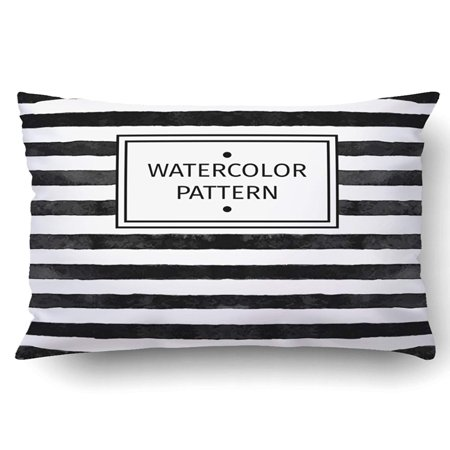 BPBOP Watercolor Pattern Black And White Stripe Pillowcase Pillow Cushion Cover 20x30 inch