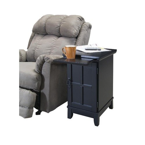 Home Styles Arts and Crafts Side Recliner Table in Black