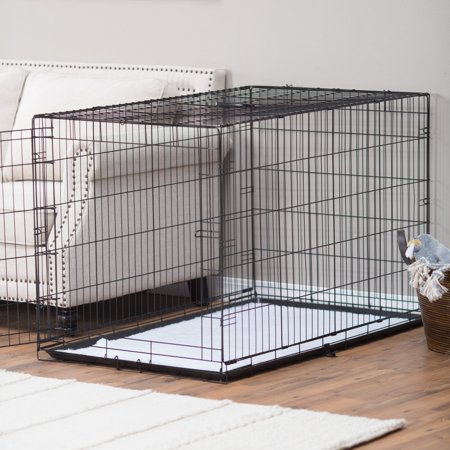 - Precision Pet Products ProValu Single Door Dog Crate with Free Fleece Crate Mat