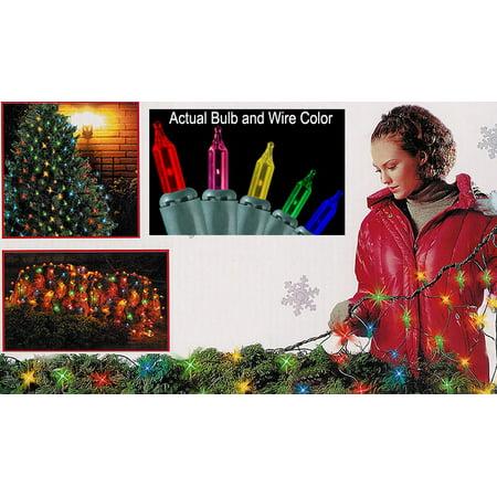 Mini Net (4' x 6' Multi Mini Net Style Christmas Lights - Green Wire )