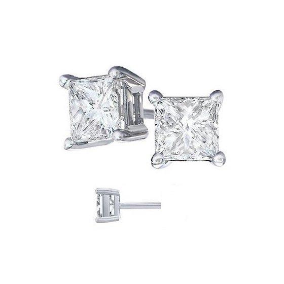760d7a1eb Jewels Fashion - Body Fashion Surgical Steel Square Basket Set Crystal  Diamond Unisex Men's Stud Earrings,7mm - Walmart.com