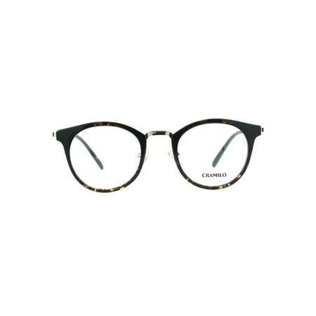Premium Optical Quality Round Horned Rim Fashion Eyeglasses Frame Tortoise (Gold Optical)