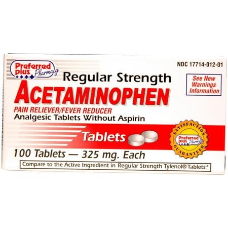 Force régulière Acétaminophène