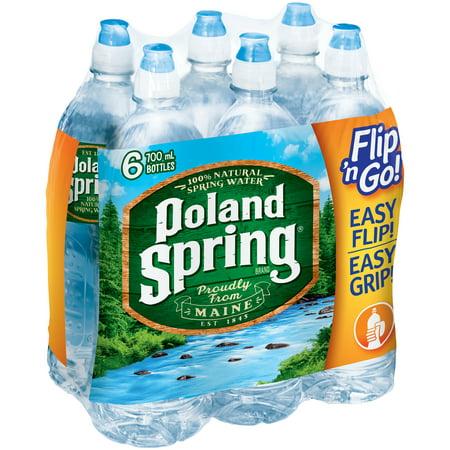 Poland Spring Natural Spring Water, 23.7 Fl. Oz., 6 Count