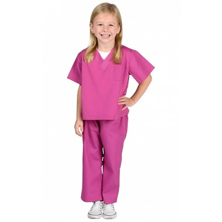 Jr Doctor Scrubs Child Costume Fuchsia - Small - Scrubs Costumes