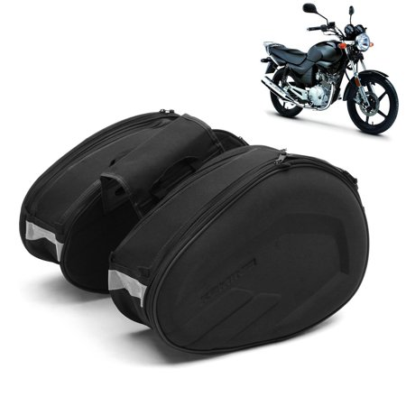2pcs Back Seat Carry Luggage Tail Bag Saddlebag Large Capacity Multi-use for Motorcycle Bike Rear Trunk