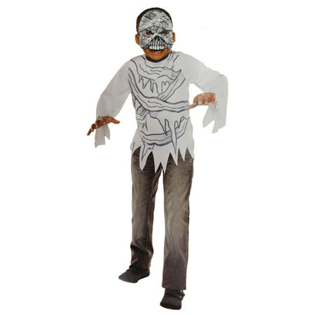 Boys Mummy Halloween Costume Top & Mask Set - Halloween Mummy Manicure