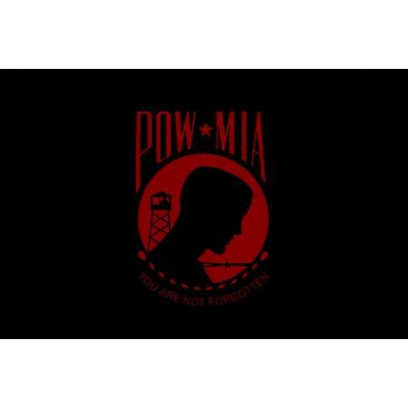 "Red Pow Mia Sticker - 3.25"" x 5"" - High Gloss UV Coated Laminate Water Proof Sticker DECAL"