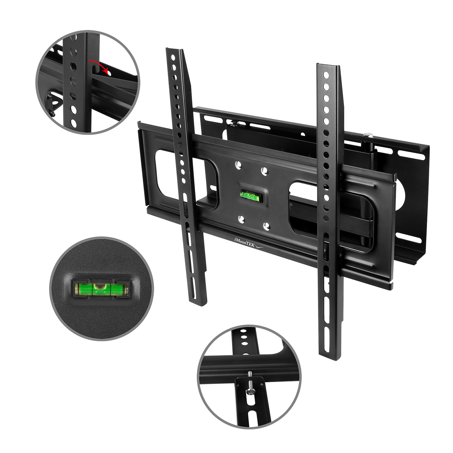 "iMounTEK Tilting TV Wall Mount Bracket For 32"" TO 55"" LED/LCD/OLED/Plasma Flat Screen TV. Full Motion Swivel Articulating Dual Arms, 99 LBS Hold- Sony/LG/Samsung/Panasonic/Vizio/Toshiba"