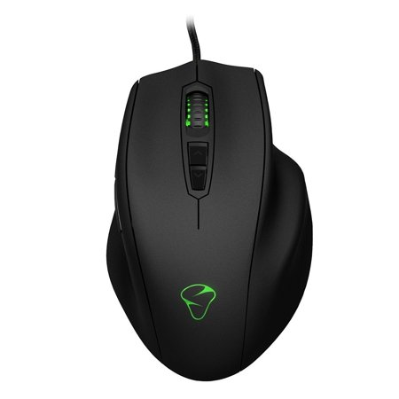 Naos 8200 Multi Color Ergonomic Laser Gaming Mouse  Right Handed Truly Ergonomic Design  Full Palm Grip By Mionix