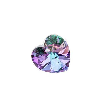 Swarovski Crystal, #6228 Heart Pendant 18mm, 1 Piece, Vitrail Light