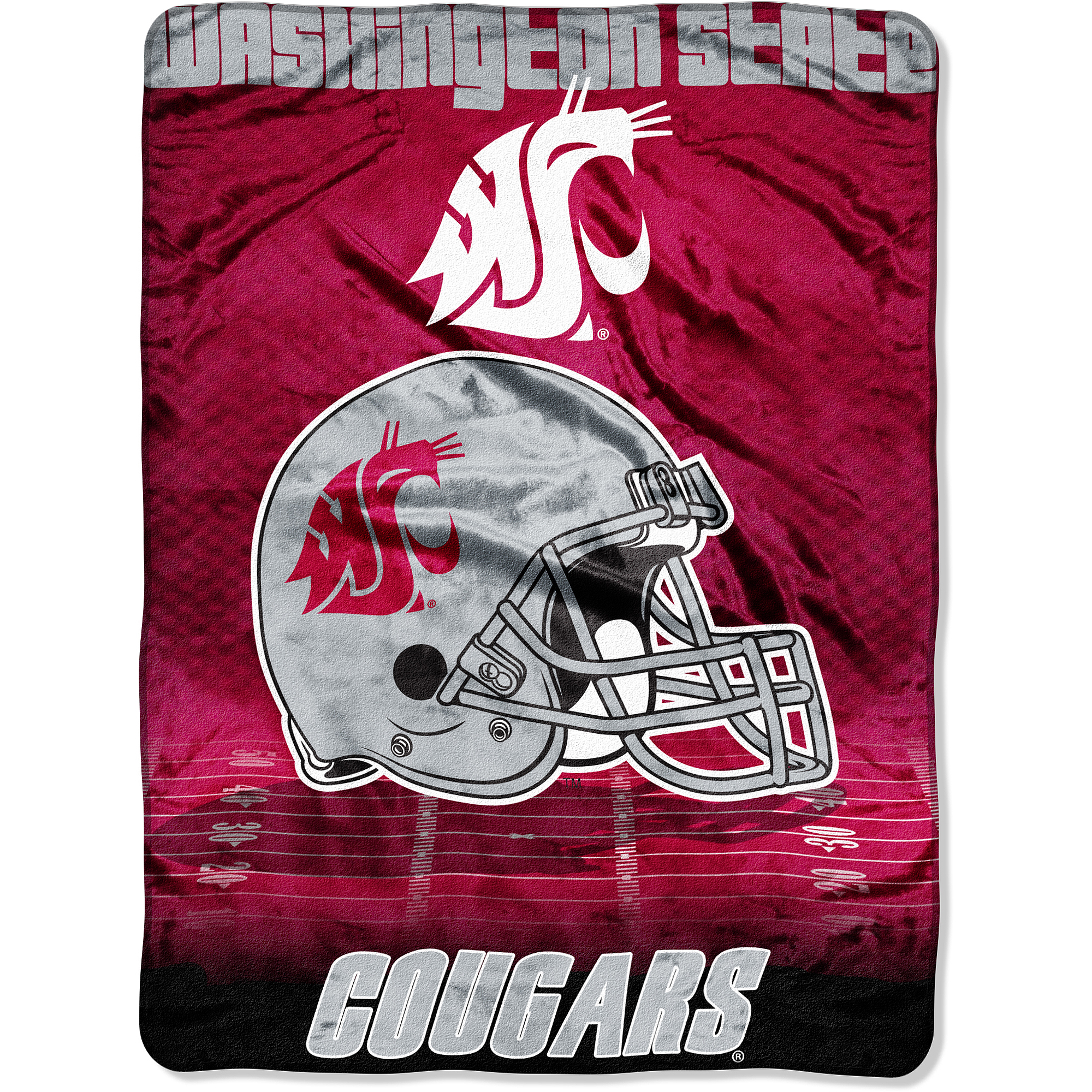 NCAA Washington St 60x80 Micro Raschel Blanket