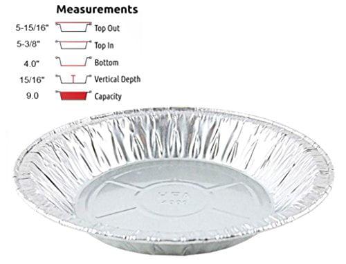 Pack of 12 Pactogo 12 Aluminum Foil Pie Pan Extra-Deep Disposable Tin Plates