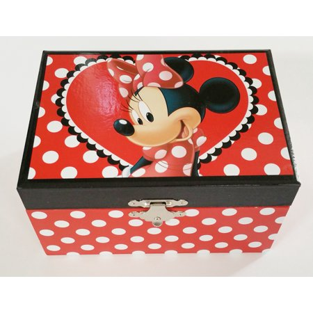 Minnie mouse jewelry and ring box disney for Minnie mouse jewelry box