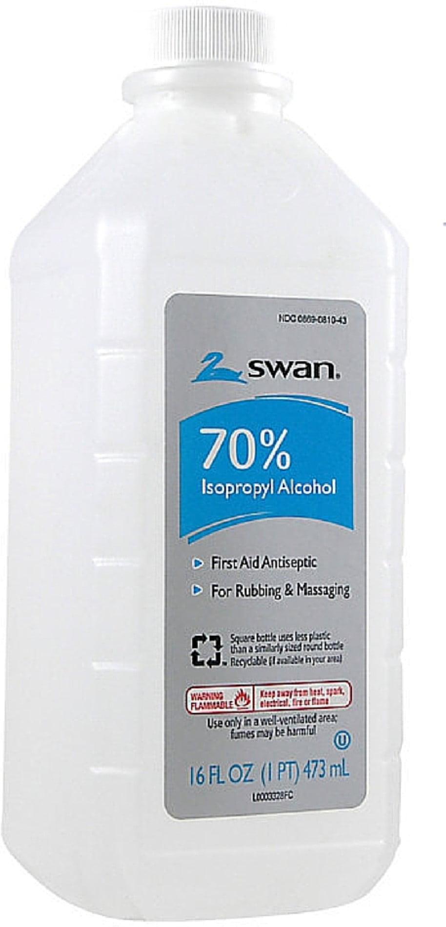 Swan Rubbing Alcohol, 70% 16 oz - Walmart.com