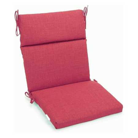 Blazing Needles Outdoor 3-Section 19 x 42 in. High Back Patio Chair Cushion for $<!---->