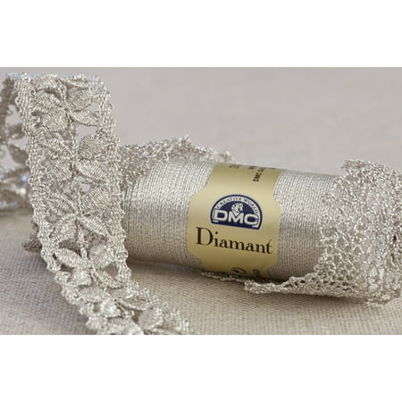Metallic Beading Thread (DMC Diamant Metallic Thread, 38.2yd,)