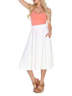 Women's Flared Midi Skirt