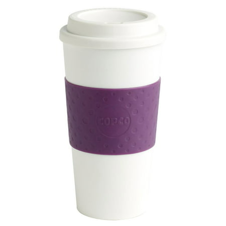 Copco 16-Ounce Capacity Acadia Reusable To Go Mug, Plum 2510-9965