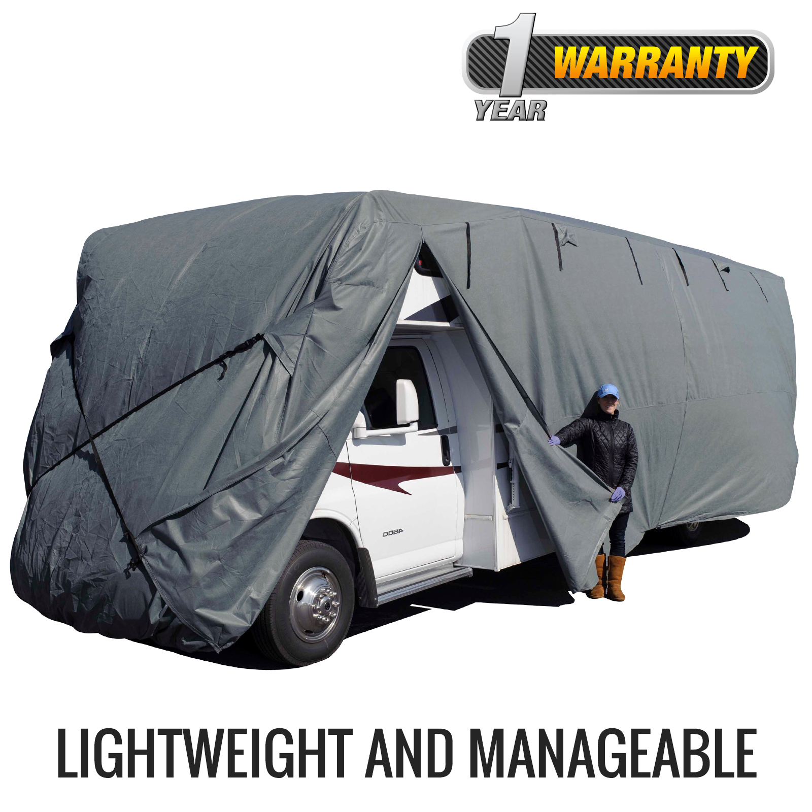 Budge Standard Class C RV Cover (Gray) Size A Up to 21' Long