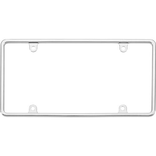 Slim Rim License Plate Frame, Chrome