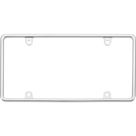 slim rim license plate frame chrome