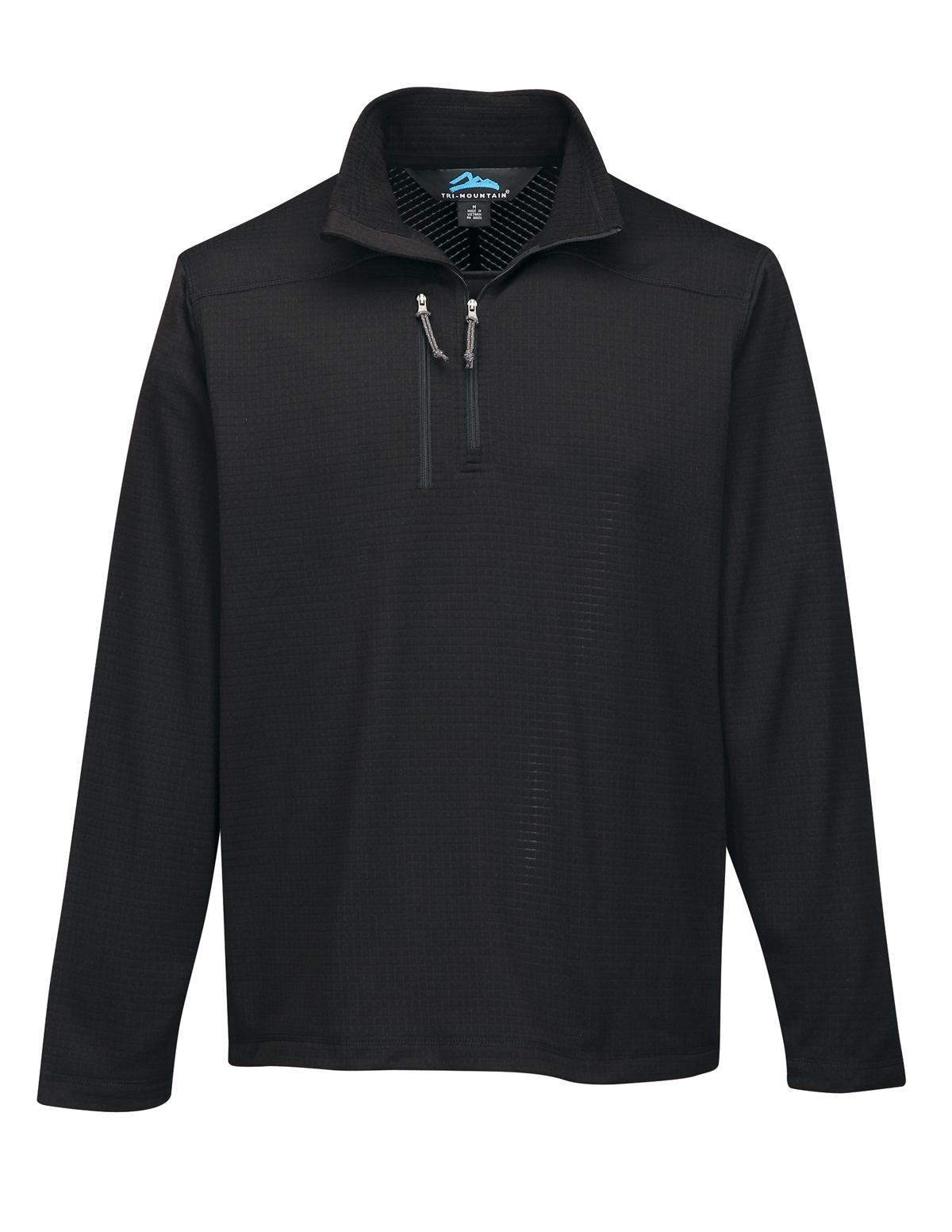 Tri-Mountain Tenzig F7636 Pullover Reverse Plaid Fleece, 2X-Large, Black