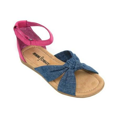 45159a41539 Minnetonka - Girls  Minnetonka Etta Ankle Strap Sandal - Walmart.com