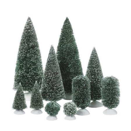 - Department 56 Accessories for Department 56 Village Collections Bag-O-Frosted Topiaries Tree
