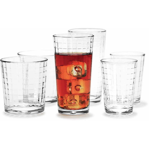 Circle Glass Windowpane 30-Piece Entertaining Set
