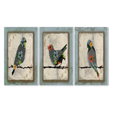 decor collection wall trio stupell song bird plaque