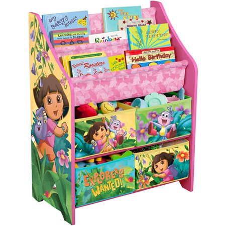 Nickelodeon dora the explorer book and toy organizer for Toy and book storage