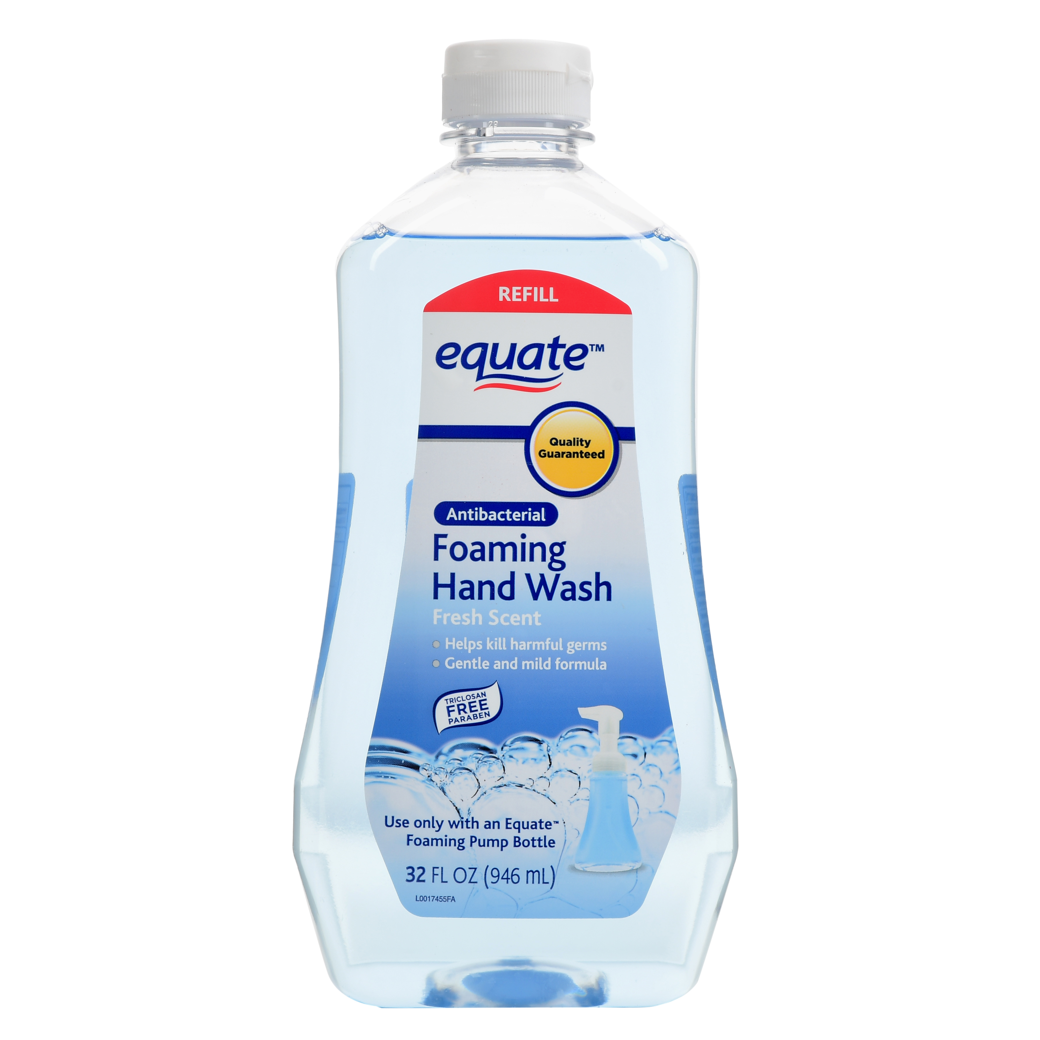 Equate Antibacterial Spring Showers Foaming Hand Wash Refill, 32 Oz