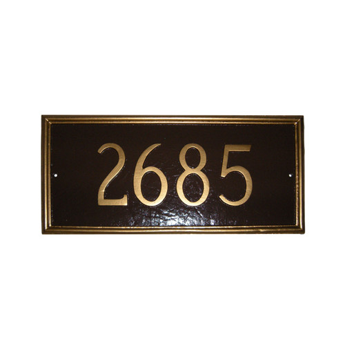 Montague Metal Products Inc. Melilla Rectangle Address Plaque