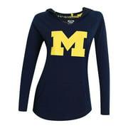 Women's Long Sleeve Pajama Hooded University of Michigan Wolverines Shirt