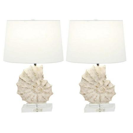 Urban Designs Coastal Sea Snail 24 Inch Table Lamp (Set of 2) ()