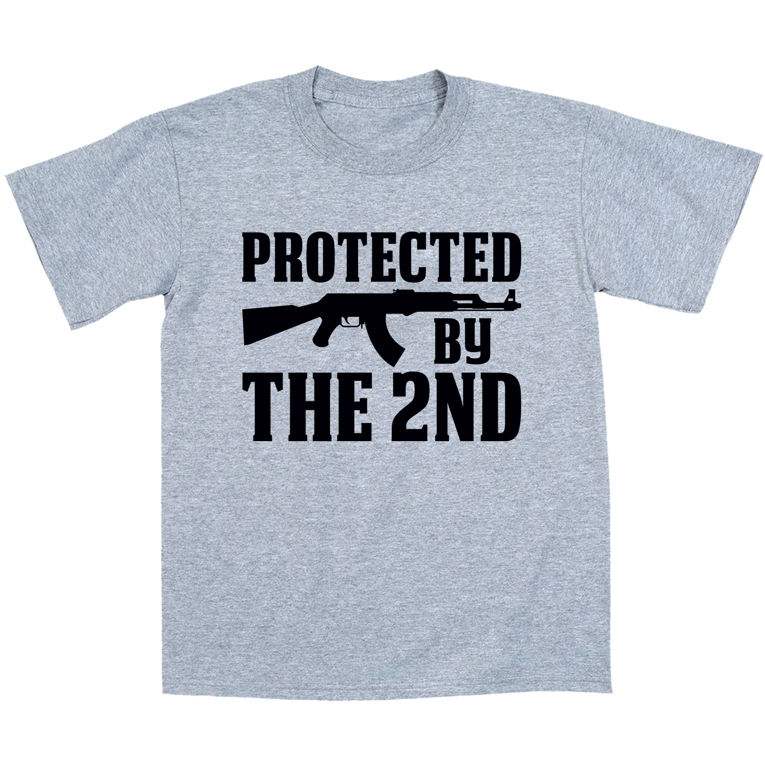 Protected By The 2nd Amendment USA Rights Pistol Novelty Gun Rifle Mens T-Shirt