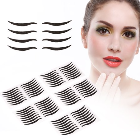 WALFRONT 40Pairs Double Eyelid Tape Black Invisible Self-adhesive Eye Line  Strip Sticker Eye Makeup Tool, Eye Makeup Tools, Invisible Double Eyelid
