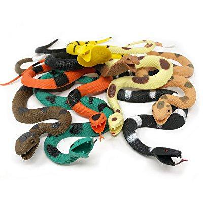 BOLEY Giant Rubber Snakes- 18 inch figures (Realistic Rubber Snakes)