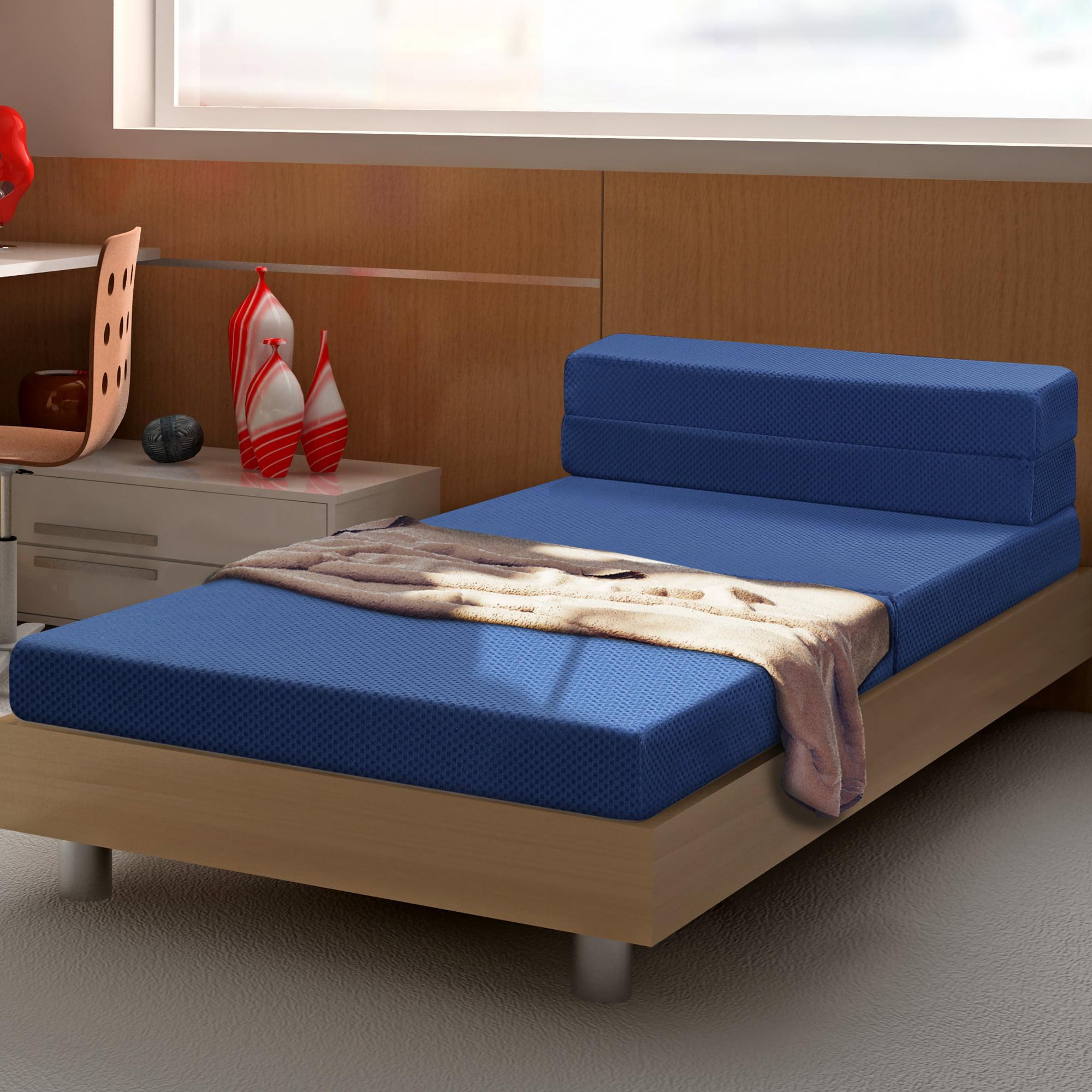 GranRest 4'' Folding Portable Mattress, Gel Memory Foam / Sofa Bed