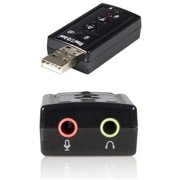 StarTech Virtual 7.1 USB Stereo Audio Adapter External Sound Card, ICUSBAUDIO7