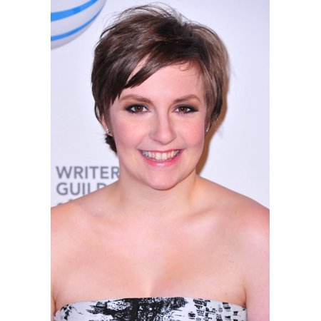 Lena Dunham At Arrivals For 2013 Writers Guild Awards New York Rolled Canvas Art     8 X 10