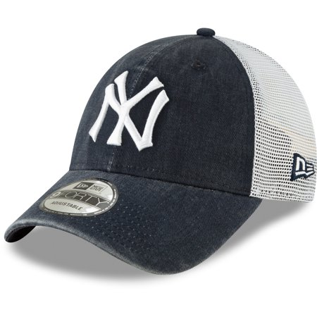 New York Yankees New Era 1934 Cooperstown Collection Trucker 9FORTY Adjustable Snapback Hat - Navy - -