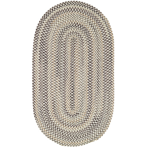 Sandy Rock Braided Oval Area Rug