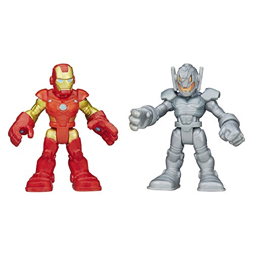 Playskool Heroes Marvel Super Hero Adventures Iron Man and Ultron Figures by Hasbro