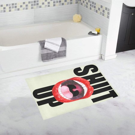 CADecor Female Lips Screaming Mouth Doormat Non Slip Bathroom/Floor Mats Bath Rug 30x18 inches - Screaming Doormat