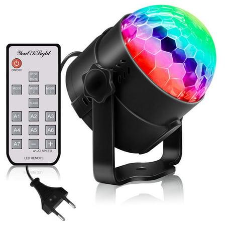 Party Light Machine (LED Party Lights RGB Sound Activated Lamp Karaoke Machine Strobe Dance Light Disco DJ Ball Lights European)
